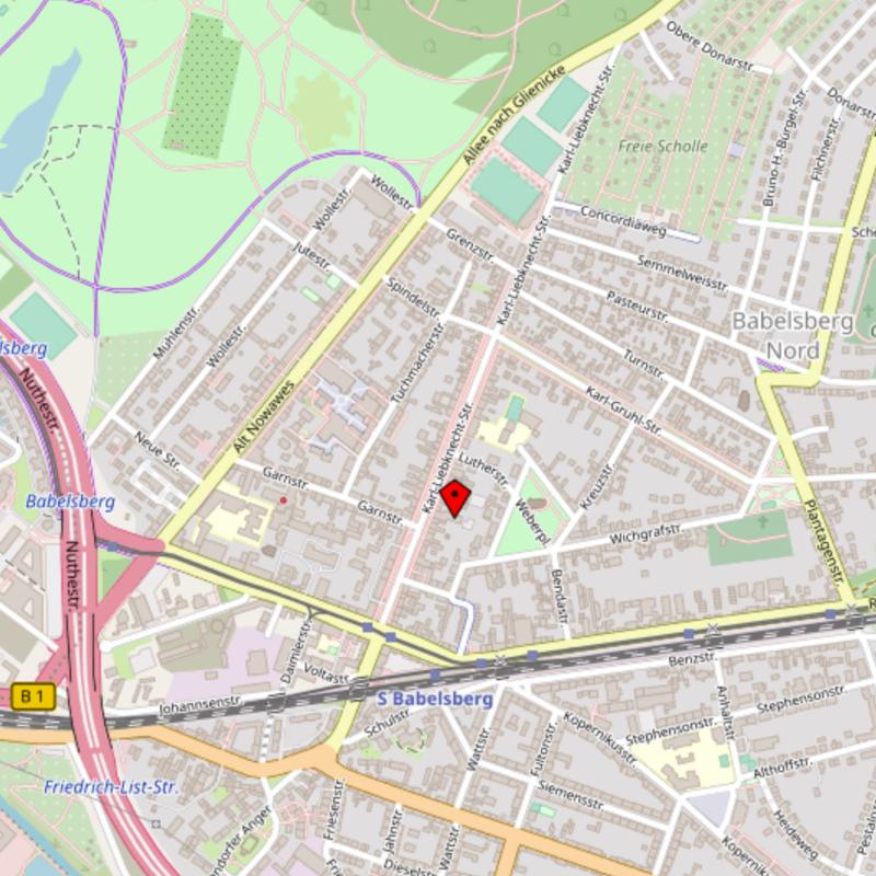 Karte zu Kniesche Orthopädietechnik - Sanitätshaus Babelsberg